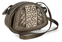 Laga handcrafted free motion embroidered vegan Ria Cross Body