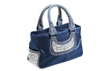Laga handcrafted free motion embroidered vegan Hidup Handbag