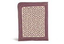 Laga handcrafted free motion embroidered vegan iPad Sleeve