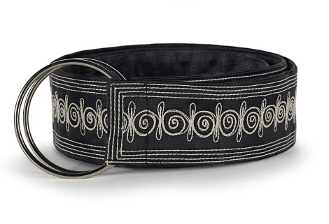 Laga handcrafted free motion embroidered vegan Aman Belt