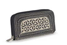 Laga handcrafted Zip Wallet free motion embroidered vegan Uang