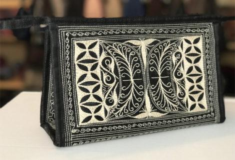 Laga handcrafted vegan embroidered Dandan Toiletry Bag
