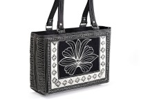 Laga handcrafted vegan free motion embroidered Tenang Handbag