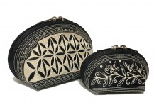 Laga handcrafted vegan embroidered Tari Cosmetic Bag Set