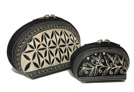 Laga handcrafted vegan embroidered Tari Cosmetic Bag Set