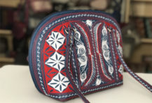 Laga handcrafted vegan handbag embroidered Harapan small