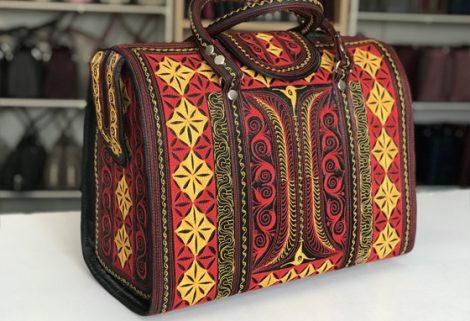 Laga handcrafted vegan free motion embroidered MULIA Travel Bag